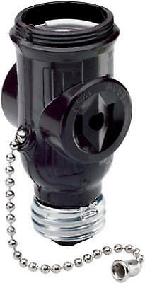 Pass & Seymour 1406CC10 Lampholder Pull Current Tap Brown