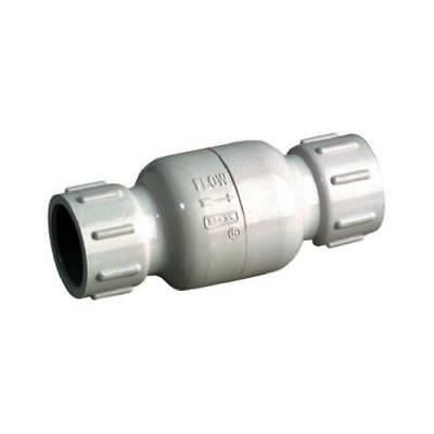 B&K 101-103 PVC Check Valve, Threaded, White, Schedule 40, 1/2-In. - Quantity 1