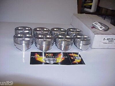 """NEW KB Set of SB Chevy Dome Pistons & Wristpins 4.155"""" Bore 1.130"""" for 6"""" Rods"""