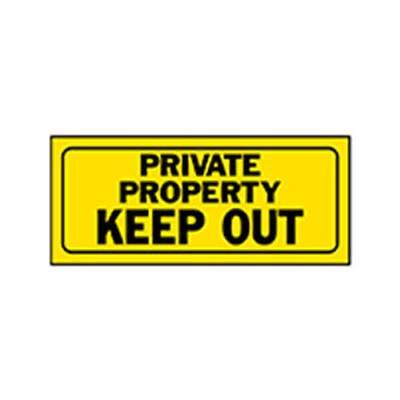 "Hy-Ko Prod 23006 "" Private Property"" Sign, Polyethylene, 6 x 14-In. - Quantity 1"