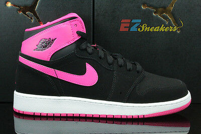 Air Jordan 1 Retro High Gg Gs Black Vivid Pink White Ds 332148-008 New Size 8Y