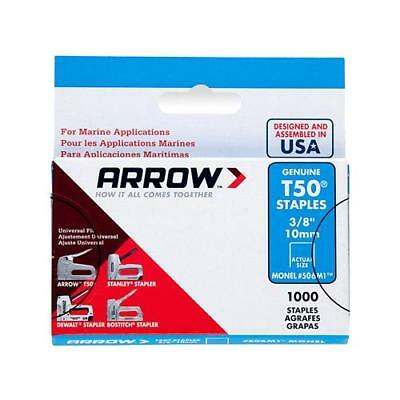 Arrow Fastener 506M1 Monel Staples, T50, 3/8-In., 1,000-Pk. - Quantity 1