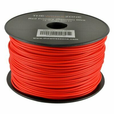 Red 18 Gauge AWG 500' Feet ft Stranded Primary Remote Wire Cable