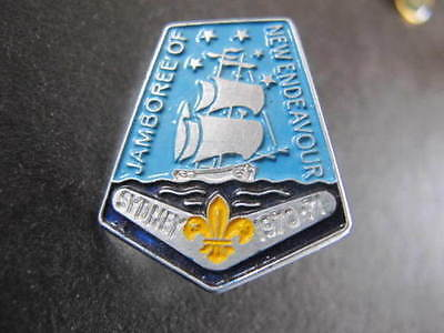 Jamboree of New Endeavour Ship Scouts Badge 33mm long