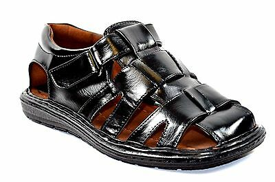 New  Fisherman Casual Sports Men Closed Toe Sandals Black or Brown-53