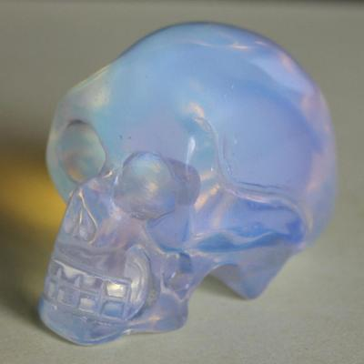 g2901  40mm  Hand carved white opalite skull figurine