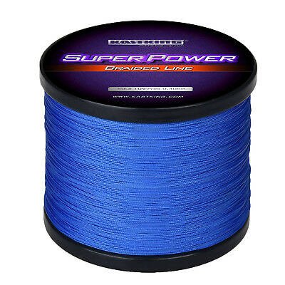 KastKing SuperPower Braid Fishing Line ( 330-1094 Yards )- Blue - Select LB Test