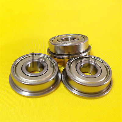 5/10/50pcs Flange Ball Bearing F604ZZ To F609ZZ Metal Shielded Flanged Bearings
