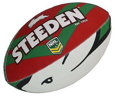 "NRL South Sydney Rabbitohs Logo 11"" Kids Small Football Foot Ball STEEDEN Gift"