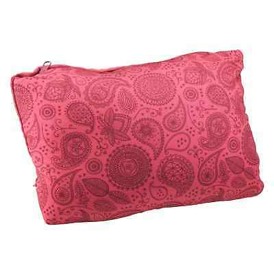 Kathmandu 2 in 1 U Shaped Microbead Neck Pillow Rectangular Travel Cushion Pink