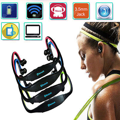 Wireless Bluetooth Stereo headset Headphone Earphones+Mic For Sumsang iPhone GB