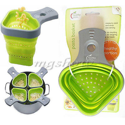 Pasta Basket Healthy Portion Control Scoop Sieve Strainer Boilable Silicone Kit