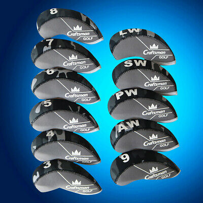 11pcs Craftsman Neoprene CAMO Golf Iron Cover Headcovers for Callaway TaylorMade