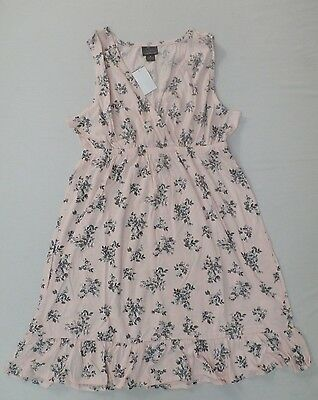 Oh Baby by Motherhood Maternity Womens Floral Sleep Gown Pink Size Large NWT $48