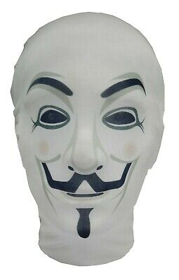 The Anonymous Mask - Guy Fawkes - V for Vendetta - Costume - Full Head Mask