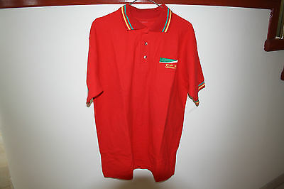 Shell Oil Optimax Gold Uniform Red Shirt Small