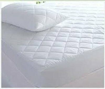 """100% Egyption Cotton Extra Deep 40cm (16"""")200 Thread Quilted Mattress protector"""