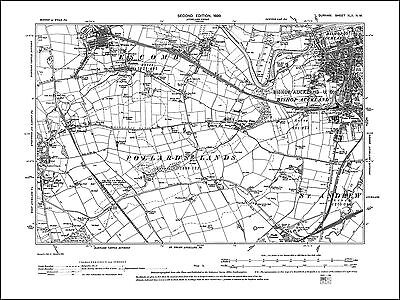 Bishop Auckland, Escomb, Witton Park, old map Durham 1899: 42NW repro