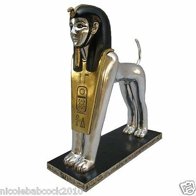 """37"""" Ancient Egyptian Replica Royal Statue Sphinx Body Of Lion Head Of Human 26Lb"""