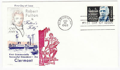 USA 1965 FDC First Day of Issue Clermont Robert Fulton (TB-1600)