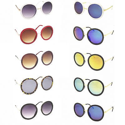 Oversized Ladies Women's Round Sunglasses 80's Big Lens Large CARRIE