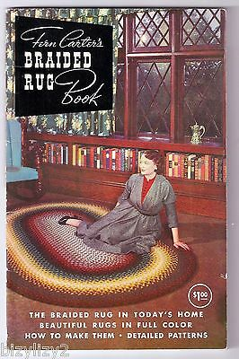 1960 Paperback Craft Booklet Fern Carter's BRAIDED RUG BOOK