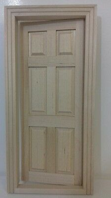 Dolls House Miniatures 1/12th Scale 6 Panel Interior Wooden Door DIY001 New