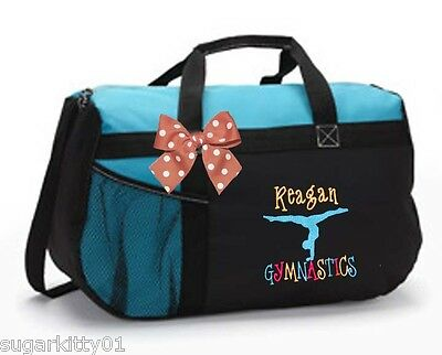 Personalized Black/Turquoise Duffel Dance Gymnastics Tap Jazz Cheer