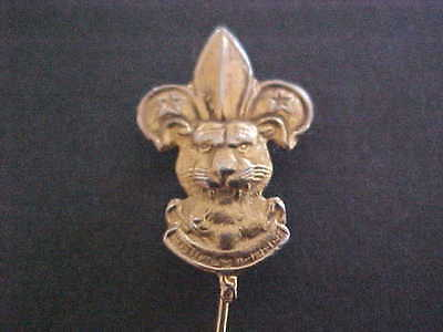 Pinback Asia Tiger Head Scouts Insignia Badge