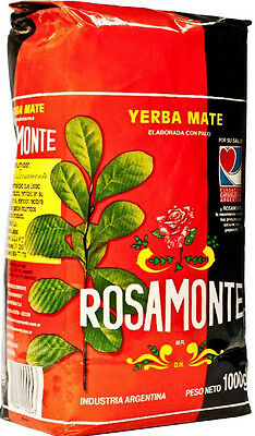 Rosamonte Traditional Yerba Mate Tea 1kg package | Produced in Argentina