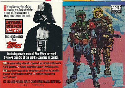Star Wars - Galaxy Series 1 - Promo Chase Trading Card - Fett  and Dengar - NM