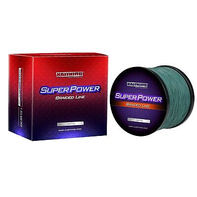 KastKing SuperPower Braid Fishing Line 330 Yds- Various Colors  - Select LB Test