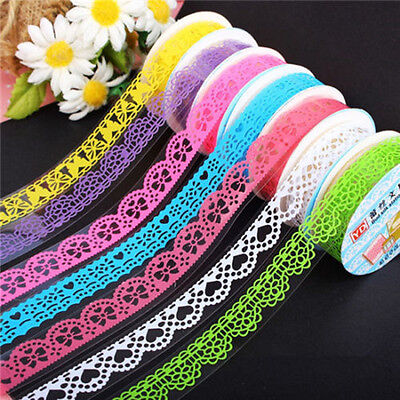 Lace Sticky Paper SELF Adhesive Washi Tape Sticker Scrapbooking Decorative DIY