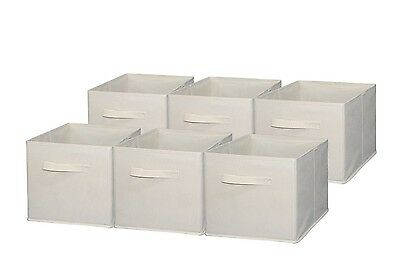 Sodynee Foldable Cloth Storage Cube Basket Bins Organiser Containers Drawers, 6