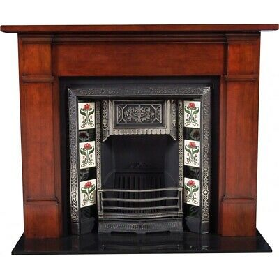 FIREPLACE SURROUND TIMBER MANTELPIECE-Georgette WHITE or POLISHED mantle piece
