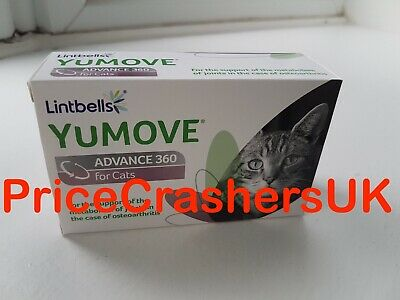 YUMOVE ADVANCE Cat Joint Supplement 60 Capsules Pets Function Mobility Stiff New
