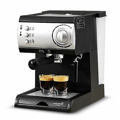 Electric Semi-Automatic Espresso Machine Coffee Maker Latte Cappuccino Steamer