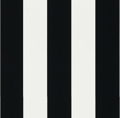 New Rasch - Bold Stripe - Black & White - Modern Luxury Wallpaper 286694