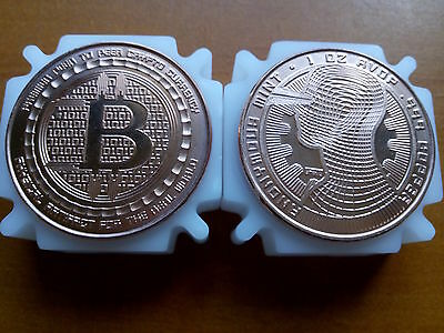 1 oz Copper Coin Bitcoin Logo 2 - Limited Edition - Anonymous Mint