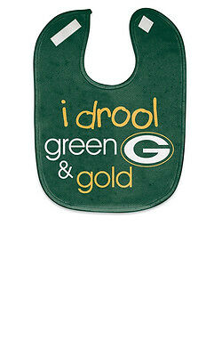 Wincraft NFL Green Bay Packers I Drool  Mesh Baby Bib Easy Clean! BRAND NEW
