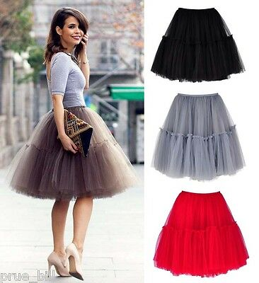 b4f5783af19 SUPER FULL PUFFY Ballerina Tutu Tulle Midi Knee-length Skirt Celeb Street  Style