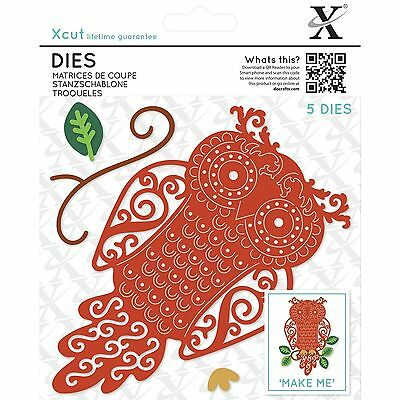 Docrafts Xcut Dies Filigree Owl - 5 Die Set