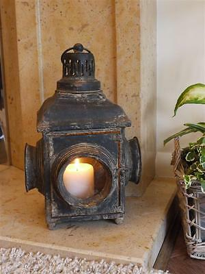 Antique French Vintage Style Large Lantern Candle Holder Rustic Home or Garden