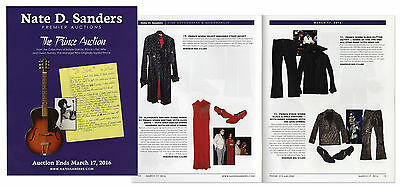 Prince Auction Catalog of His Stage Worn Costumes, Signed Items.  Nate D Sanders