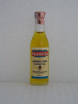 Gancia AMERICANO GANCIA Miniature 3 inch Glass Bottle -New Old Stock