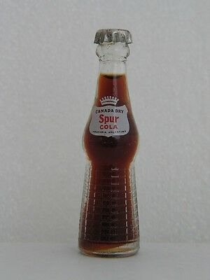 Vintage CANADA DRY Spur COLA Miniature 3 inch Glass Bottle