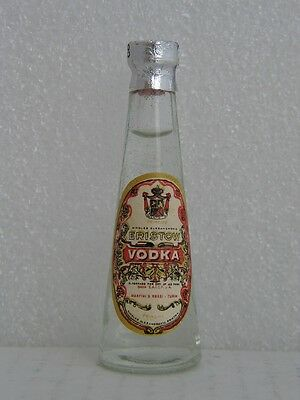 ERISTOW VODKA MARTINI & ROSSI Miniature 3 inch Glass Bottle -New Old Stock