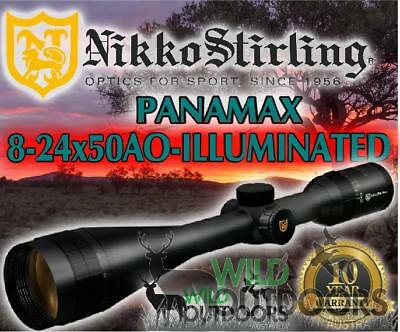 Nikko Stirling - Rifle Scope - Panamax - 8-24X50 AO - Illuminated Reticle