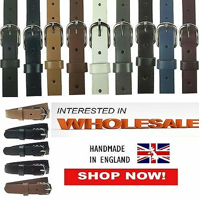 Wholesale Lot Offer Of Mix Plain Real Leather Mens Womens Belts Made In UK