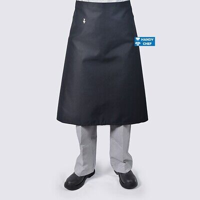 Chef Black Aprons Long 3/4 waist - see handychef for chef jackets,pant,caps,,.